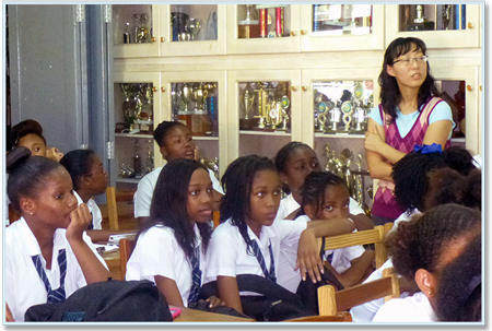 Trinity Students Educate Secondary Schools on Sexually Transmitted Diseases