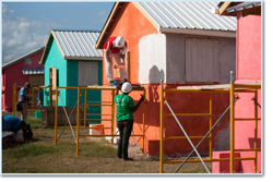 Home building with Habitat for Humanity in Haiti