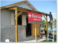 Medical team Station in Haiti