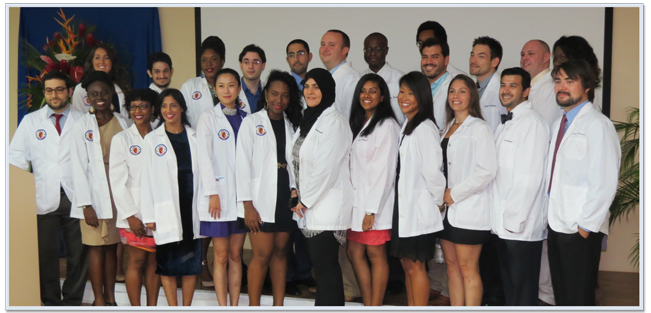 Trinity SOM 5th Term Students Celebrate the Completion of the Basic Sciences in St. Vincent.