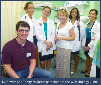 Dr Bowlin Trinity students commence observation