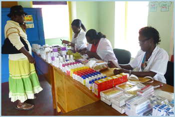 Pharmacists dispense medicines