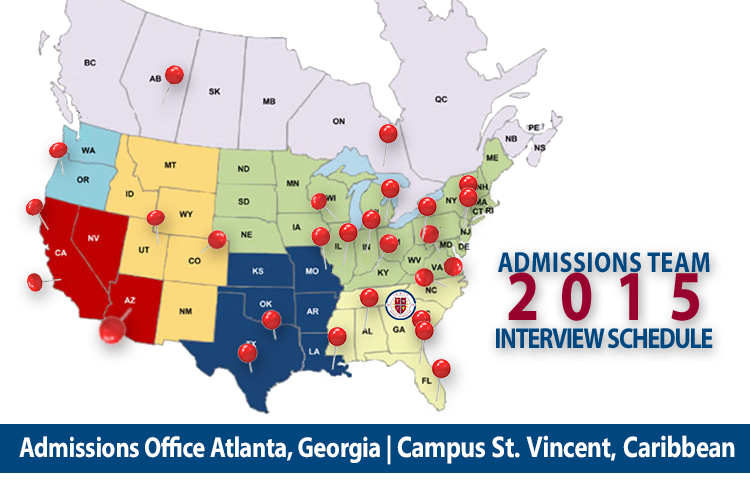 2015 MD Admissions Interview Tour   U.S. and Canada