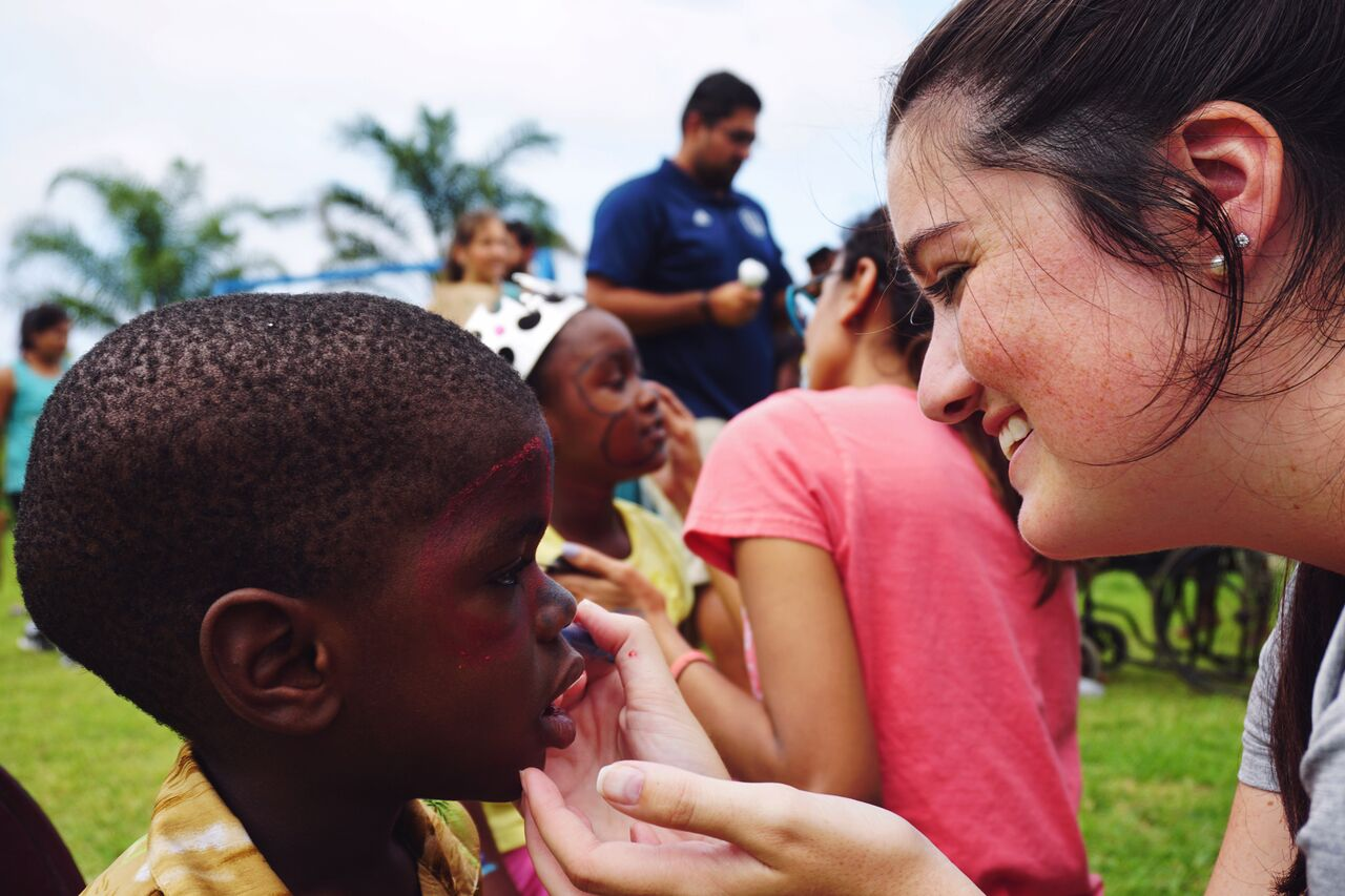 Face painting is a hit with Kid Companions