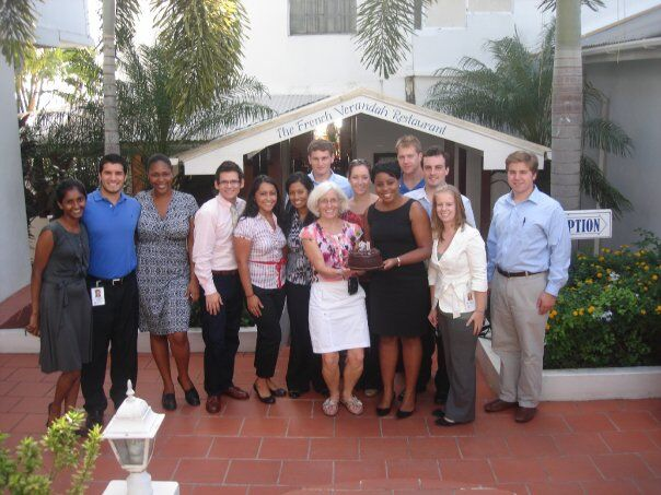 Dr. Hindman and her Trinity class