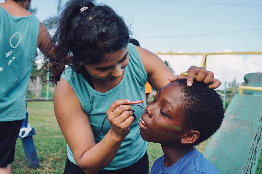 Face painting at the Trinity Kid Companions Carnival