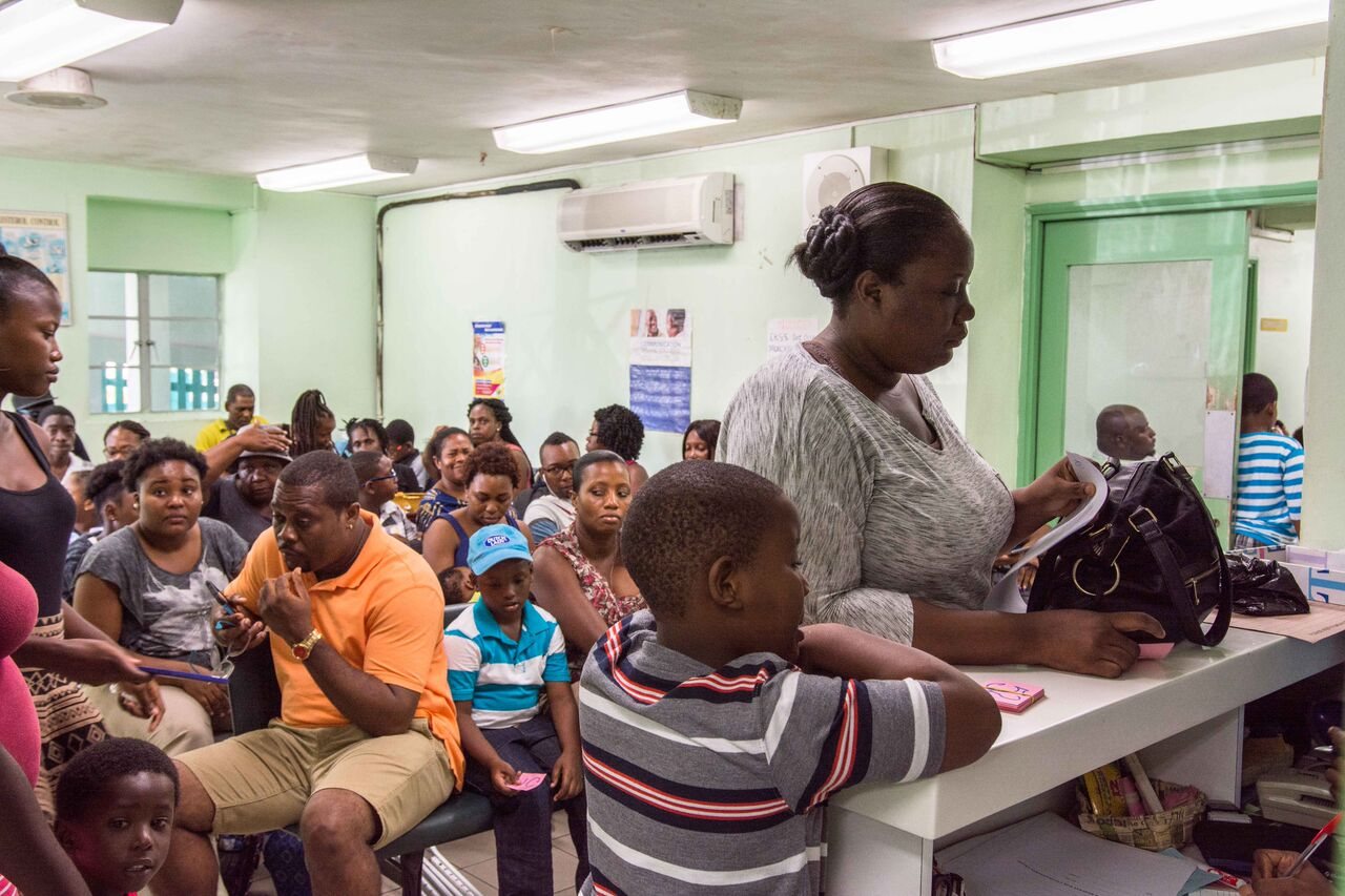 World Pediatric Project patients waiting to start the clinic day
