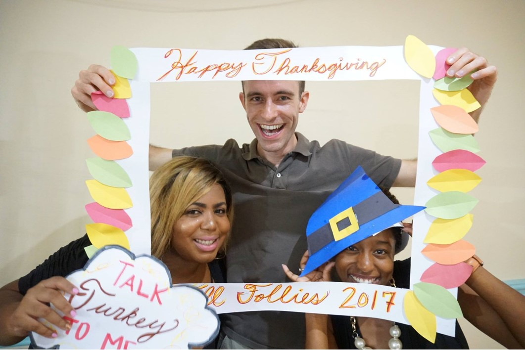 Happy Thanksgiving from Trinity students!