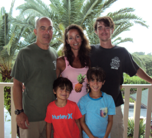 Dr. Andrea Folds with Family in St. Vincent