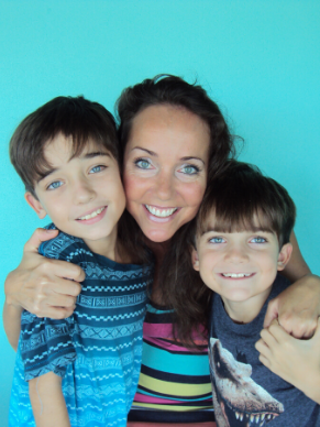 Dr. Folds with her two sons