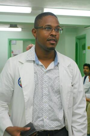 Dr. Gamal Fitzpatrick in the hospital