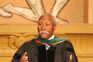 St. Vincent's Governor General Ballantyne addresses the graduates