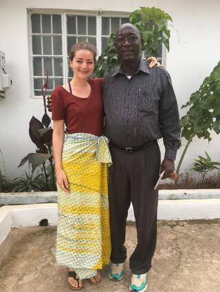 Doctors Waterman and Gbakima together in Sierra Leone