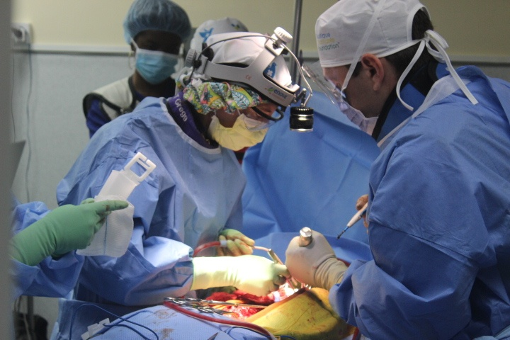 Trinity Students observe from the Surgical team with the World Pediatric Project