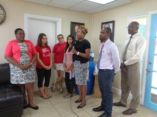Mrs. Neeka Anderson with the Ministry of Health, Wellness & the Environment