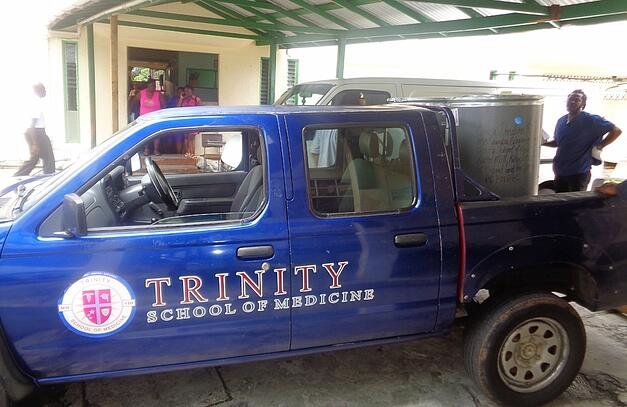 """Old Reliable."" One of Trinity's fleet vehicles helping CaMSA with its delivery."