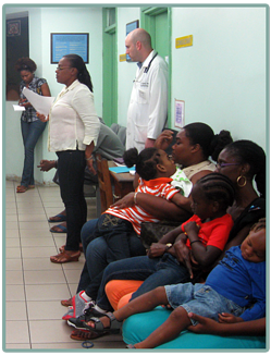 Milton Cato Memorial Hospital welcomed the families from St. Vincent and surrounding Caribbean nations.