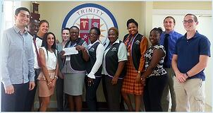 Trinity Presents Check to Kourageous Kids Foundation