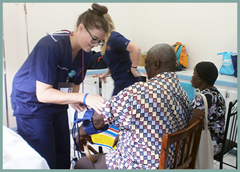 Hands-on with patients in the clinic