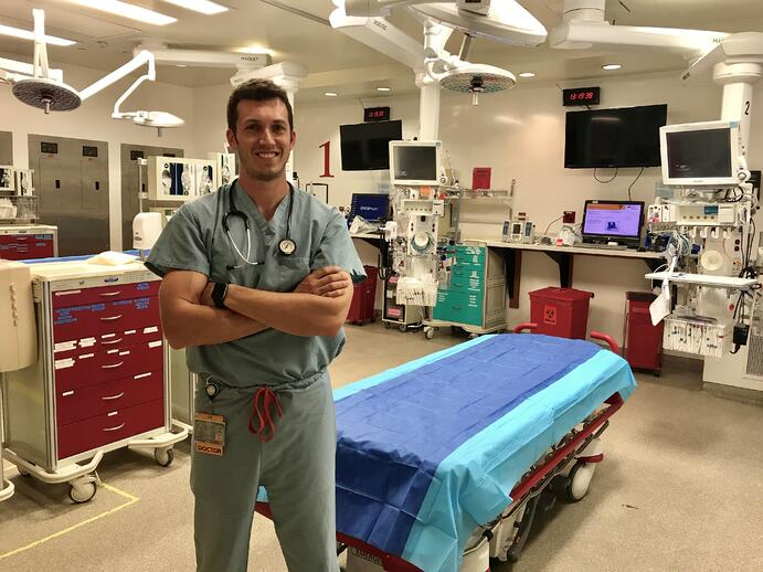 Chief resident and Trinity grad, Dr. Drew Clare