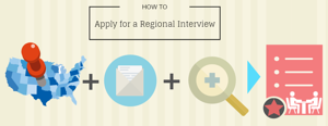 Trinity School of Medicine How to Apply for a Regional Interview Infographic