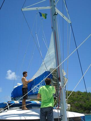 Drew sailing on St. Vincent