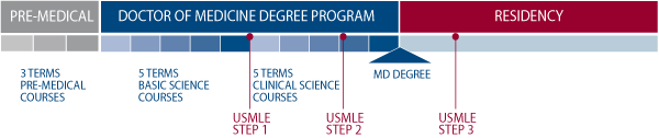 Trinity's 5-Year Program Time Line to Earn and MD
