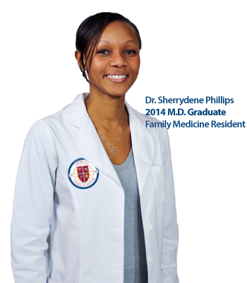 Dr. Sherrydene Phillips, Trinity School of Medicine graduate, Resident McGill University