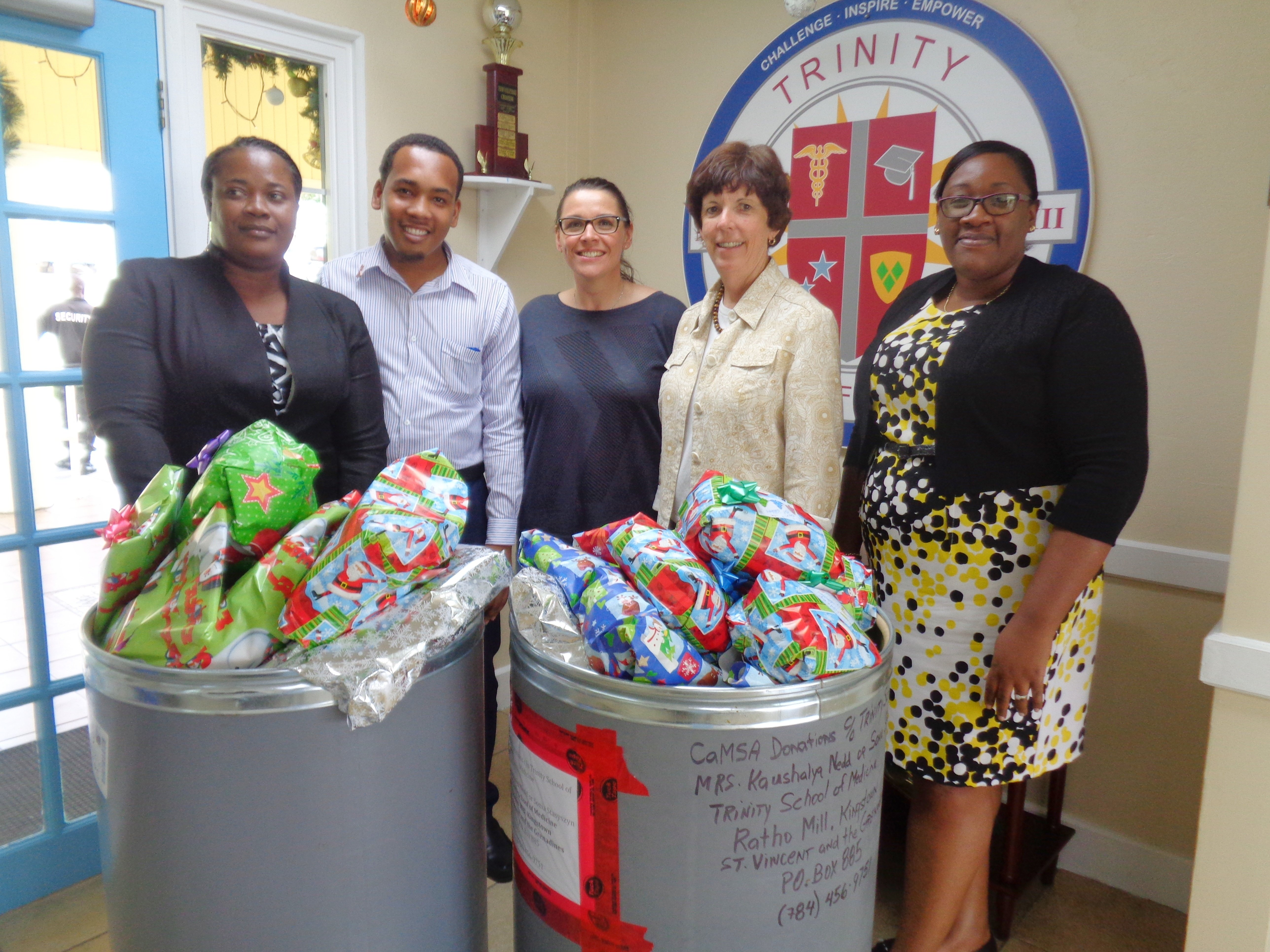 Trinity School of Medicine's SMS and AMSA Groups Collaborate on Holiday Gift Drive for Vincentian Causes
