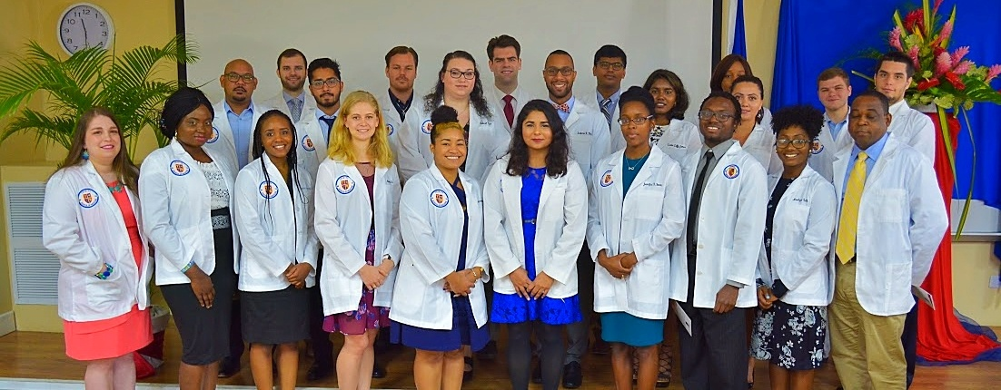 Trinity School of Medicine Welcomes January 2018 Students with White Coat Ceremony
