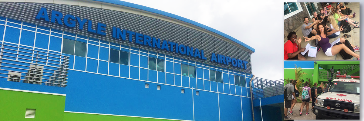 Trinity Students Take Part in Safety Training for St. Vincent's New International Airport
