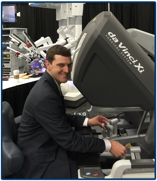 "Dr. Parker ""test drives"" a da Vinci Surgical System"