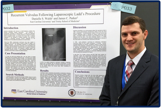 Recent Trinity Graduate Dr. James Parker Presents at the Society of American Gastrointestinal and Endoscopic Surgeons