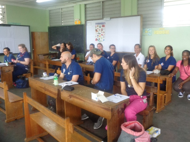 Trinity School of Medicine Students Join Rotary Club of St. Vincent in Village Doctor Exercise