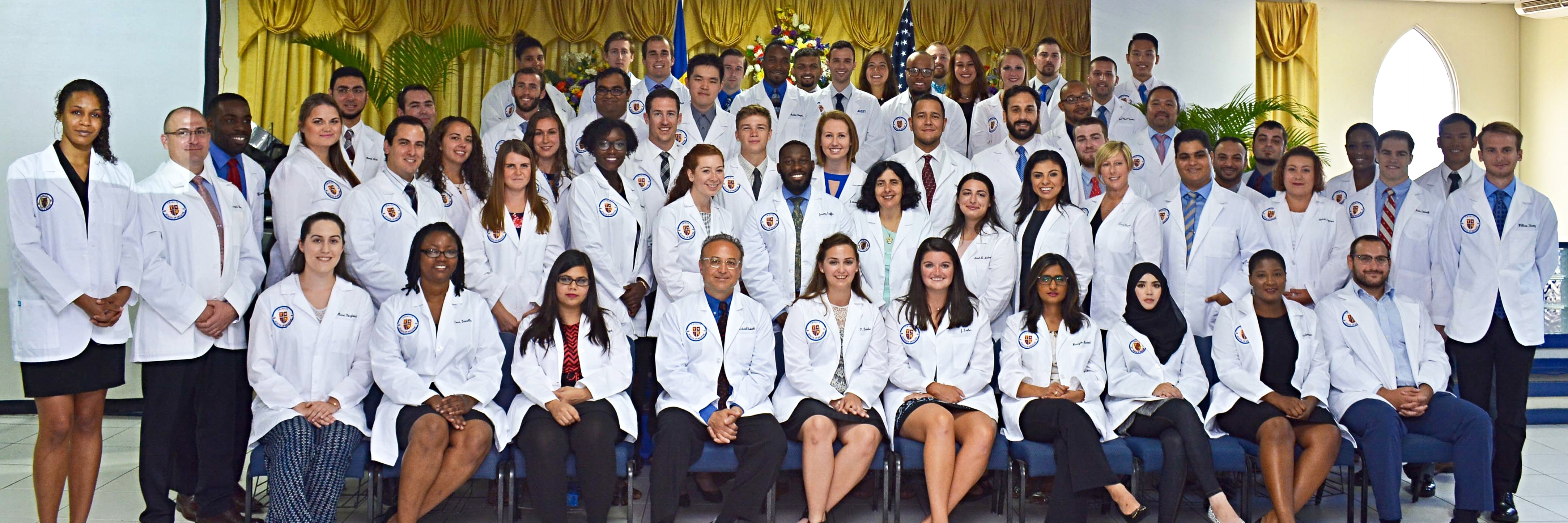 Incoming September 2017 Class at Trinity School of Medicine during White Coat Ceremony