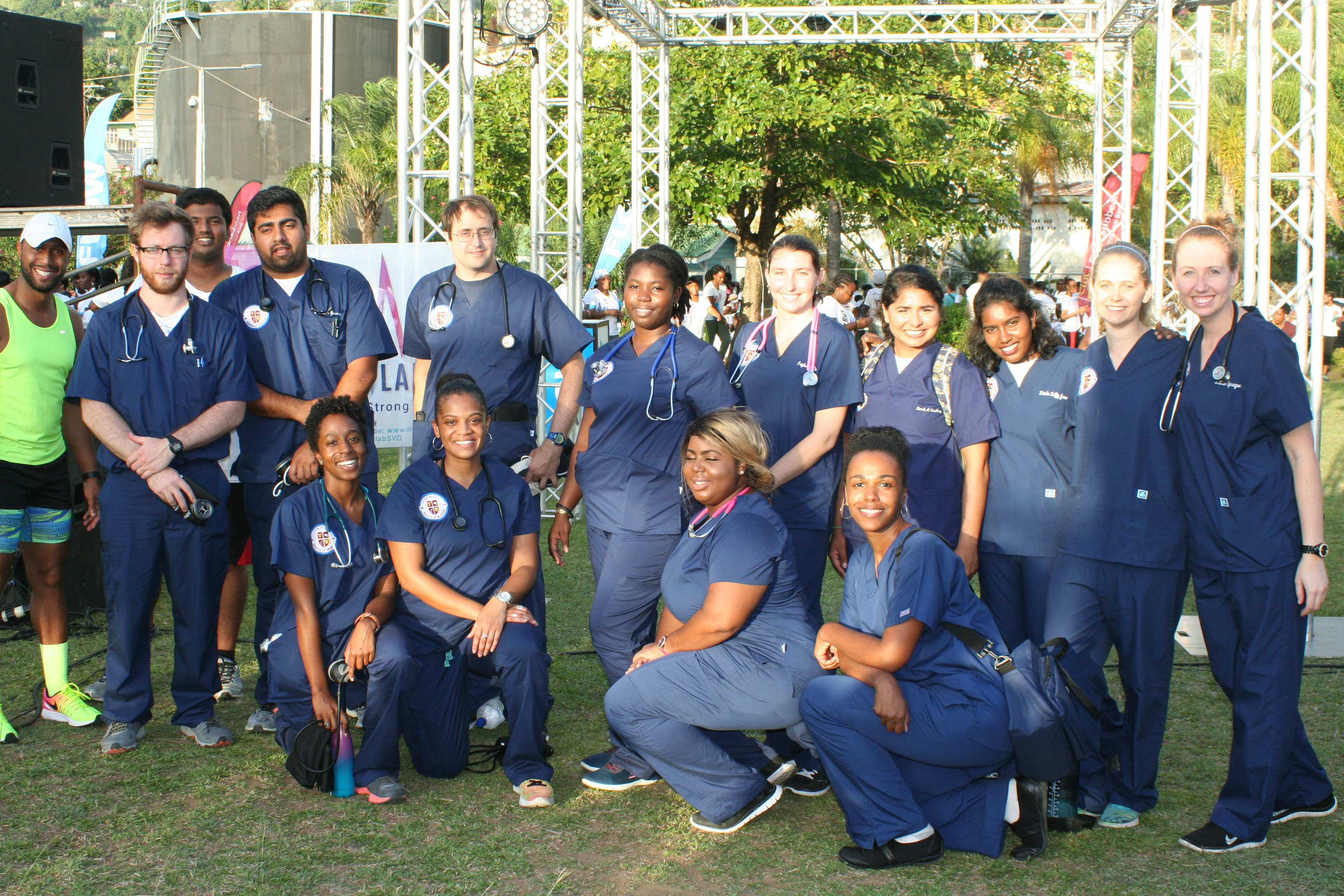 Trinity School of Medicine Students Provide Health Checks Prior to Local Running Event