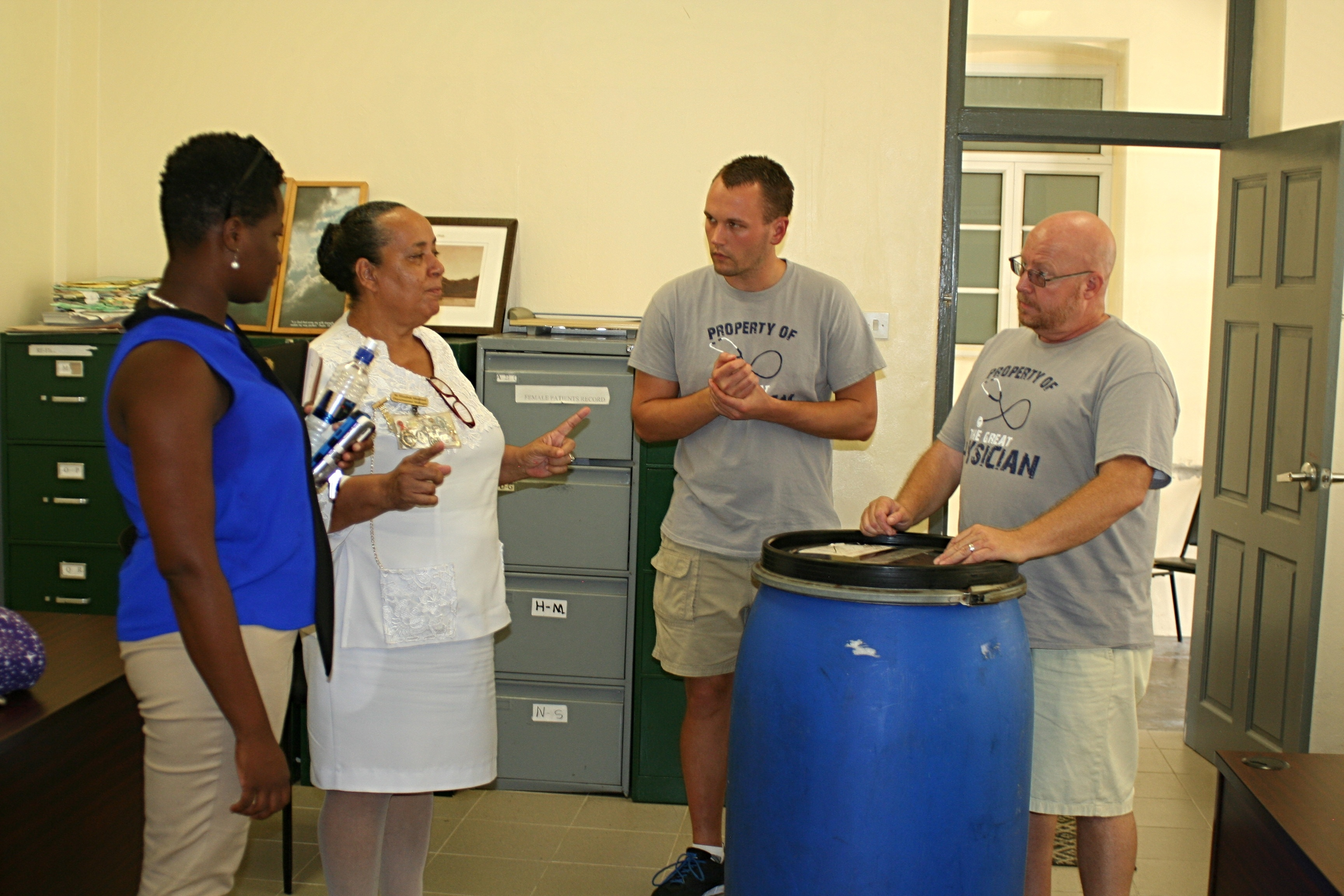 Sr. Medford speaks with the team from Trinity-092102-edited.jpg