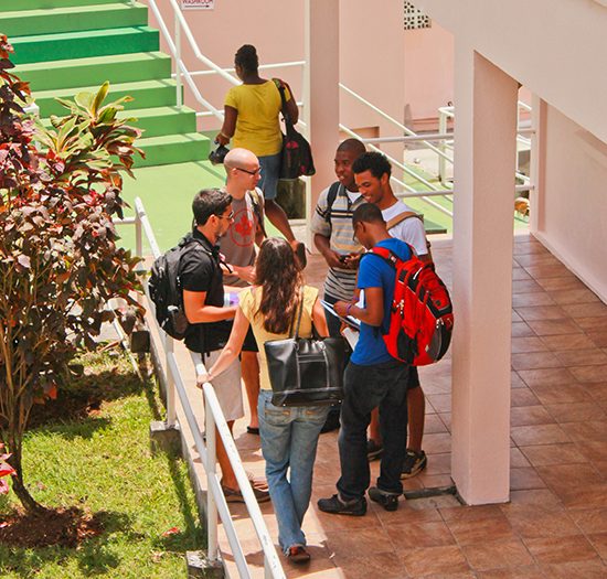 Students Gather between classes