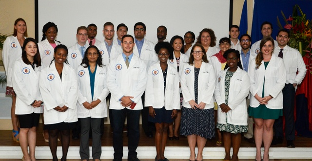 Trinity Holds May Term White Coat Ceremony